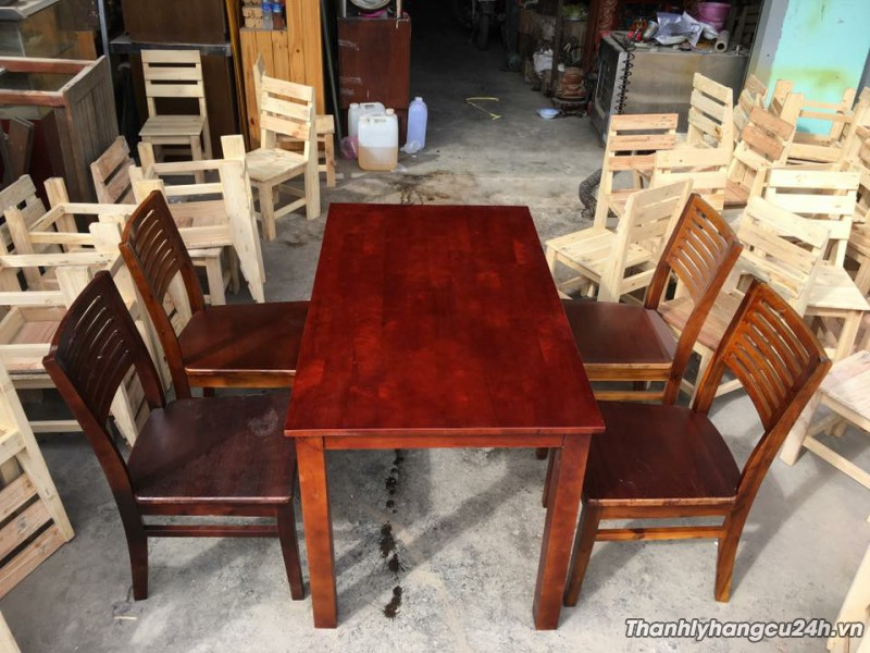 Bàn ghế gỗ nhà hàng giá rẻ