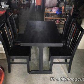 bàn ghế cafe gỗ đen