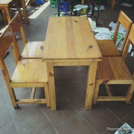 bàn 4 ghế cafe gỗ